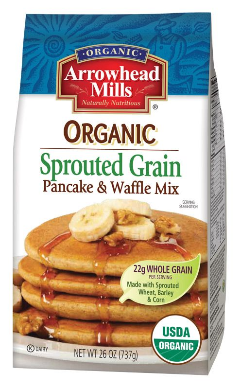 Organic Sprouted Grain Pancake Waffle Mix Unprocessed eating