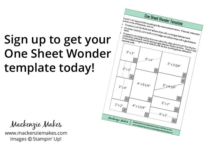 One Sheet Wonder Card Set with Fruit Stand DSP Fruit stands - create a sign in sheet