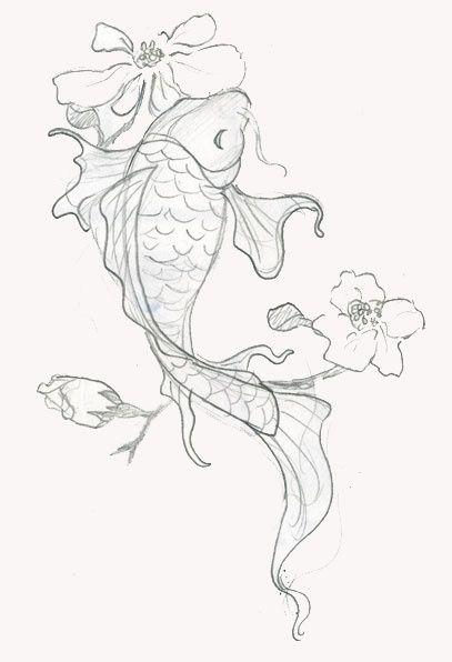 Koi Tattoo Ideas Central Koi Fish Drawing Animal Sketches Japanese Koi Fish Tattoo