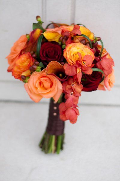 Fall Flower Bouquets Wedding Flowers Photos on WeddingWire