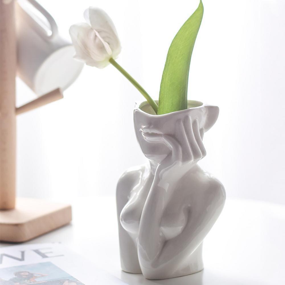 Ceramic Woman Flower Vase