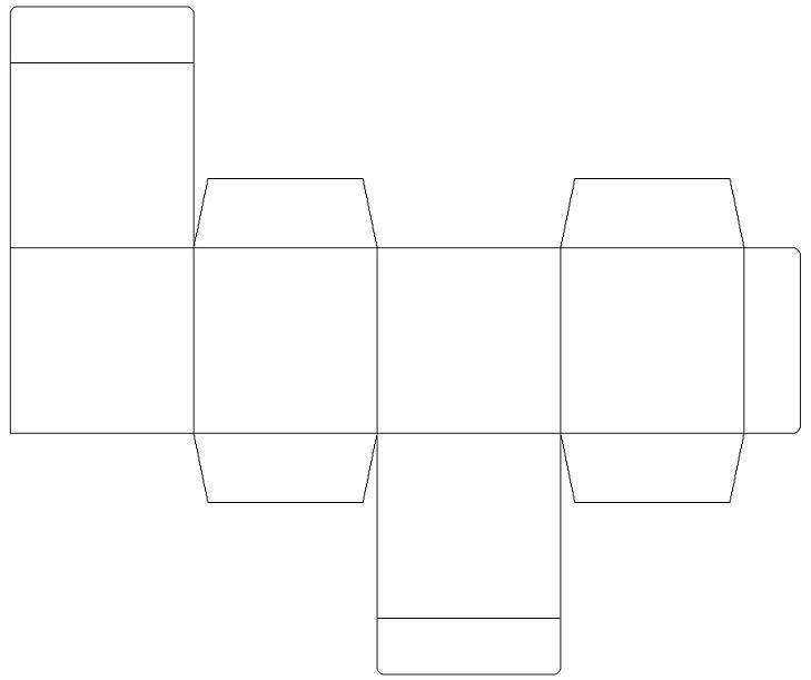 Moldes de cajas cuadradas de cart n corrugado imagui - Como hacer cajitas de cartulina ...