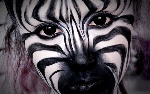 Zebra Kostum Selber Machen Diy Anleitung Halloween Makeup