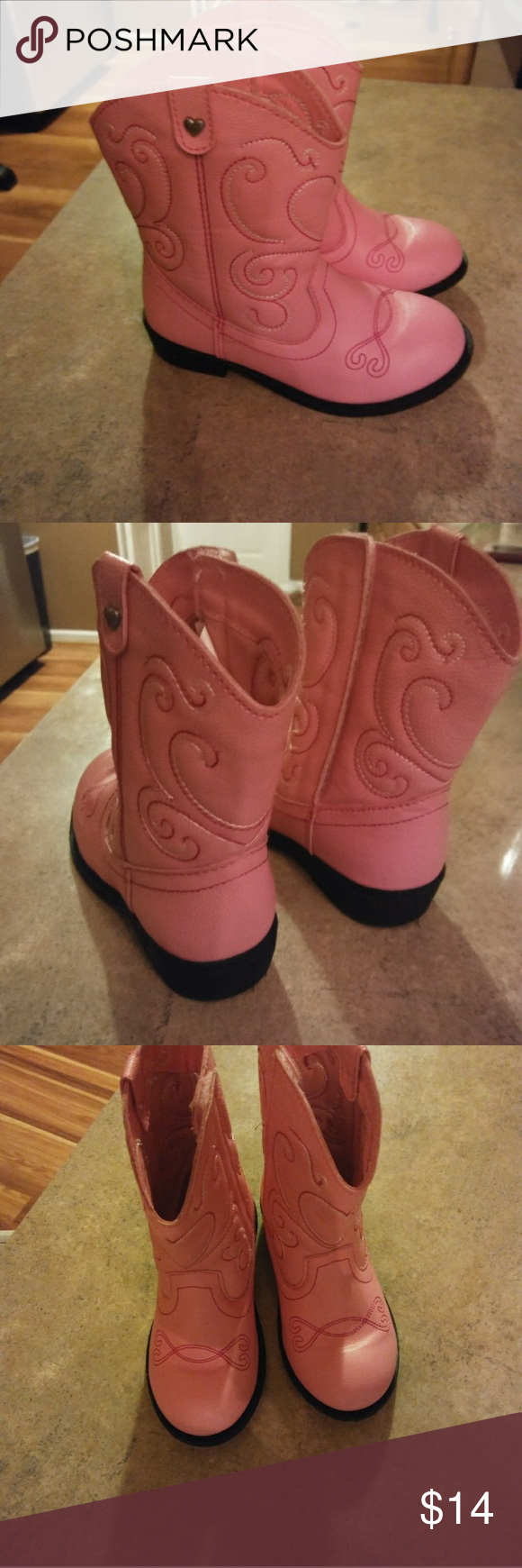 Toddler cowgirl boots size 8 Toddler cowgirl boots Size 8 Pink  great condition Shoes Boots