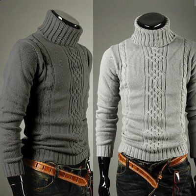 Free shipping Fall/Winter 2012 men's sweater,high collar sweater ...