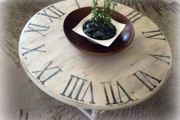 Clock Table Inspiration and other copycat crafts