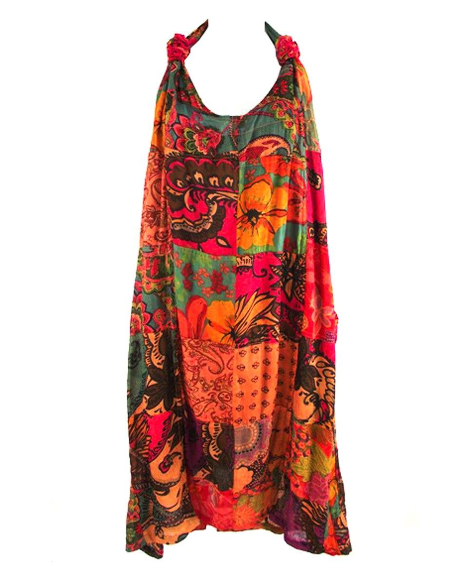 584d5fb00c GRINGO FAIR TRADE PATCHWORK SARONG DRESS