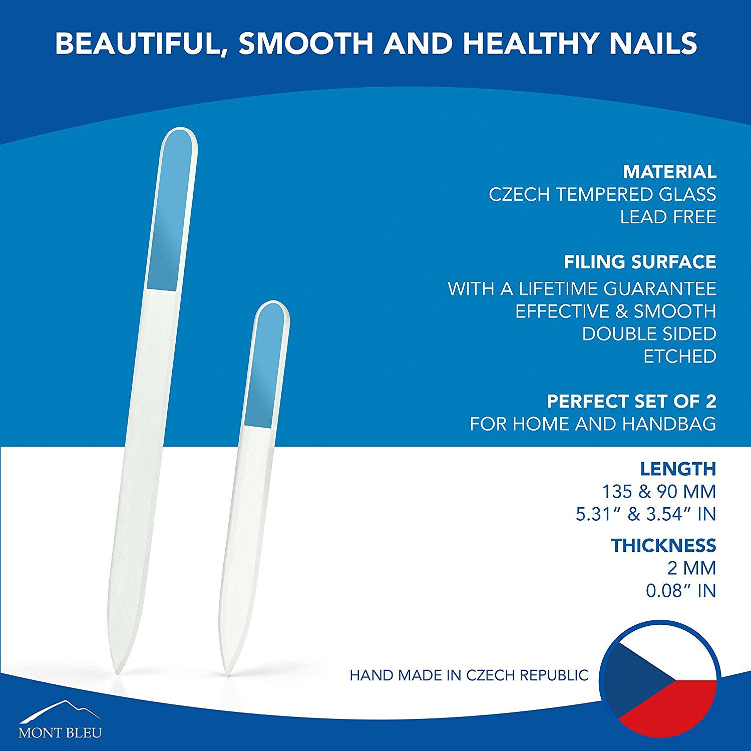 Mont Bleu Set of 2 Crystal Nail Files hand decorated with crystals ...