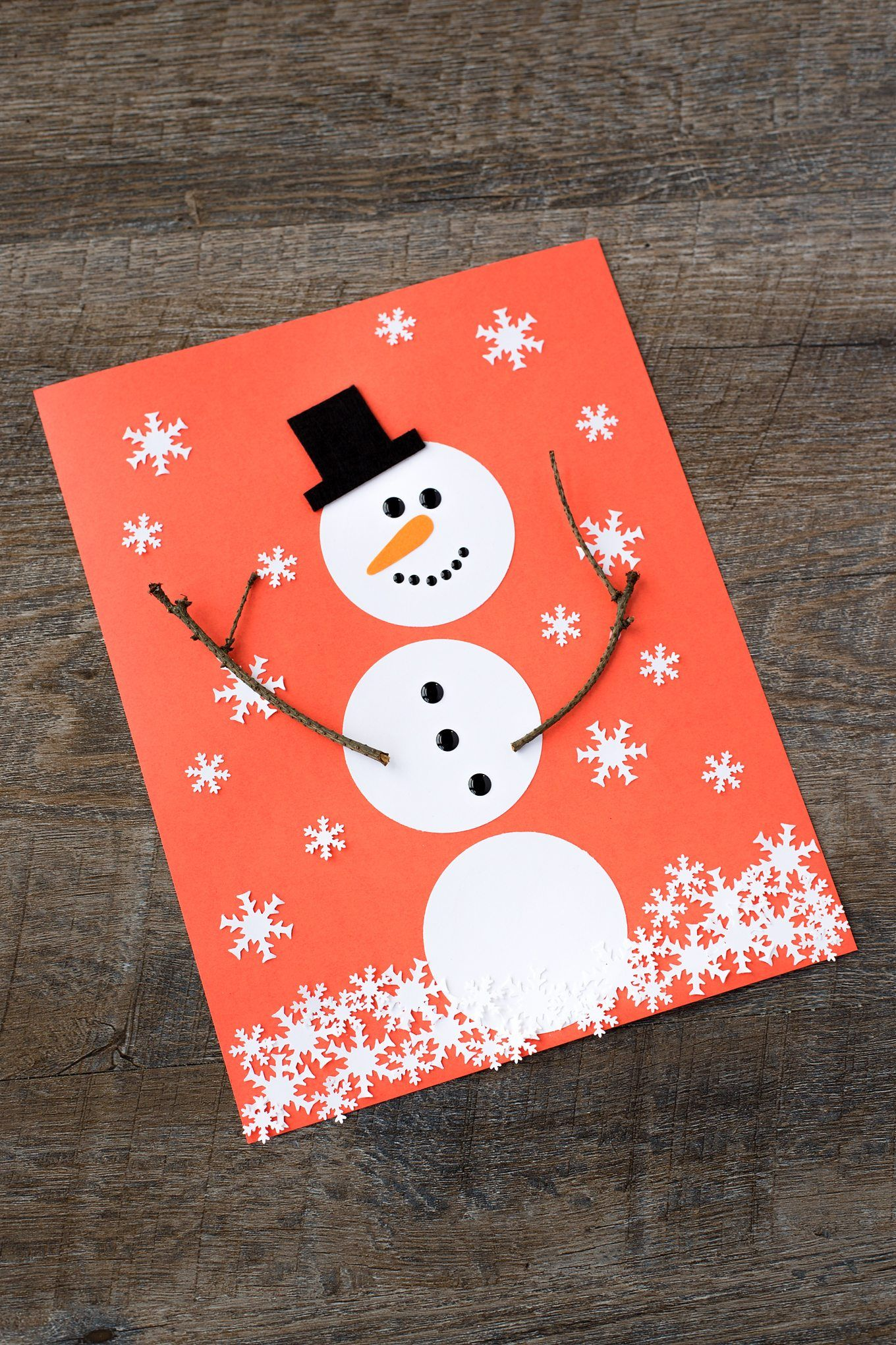 The Happiest Paper Snowman Craft for Kids Construction