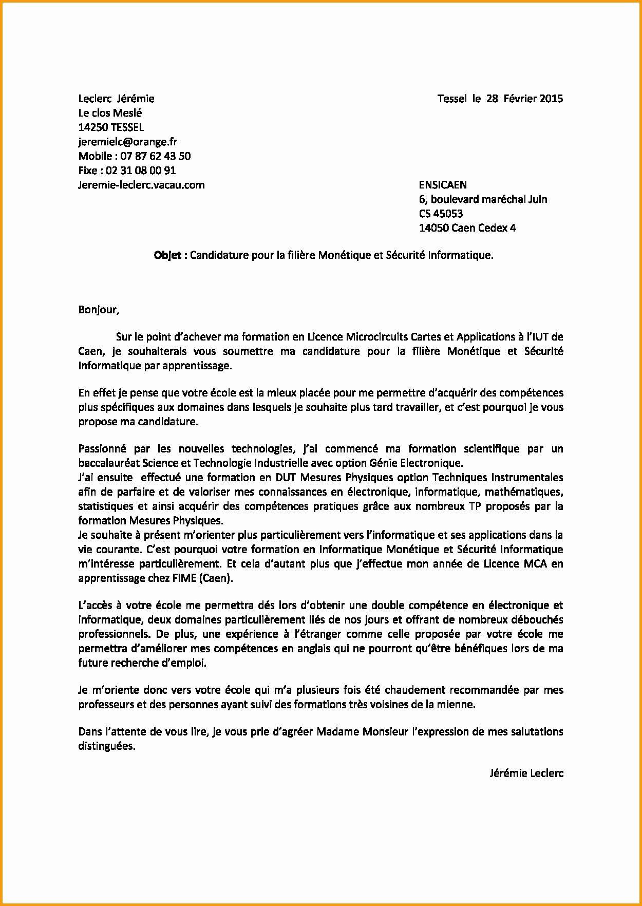 Unique Lettre De Motivation Leclerc Letter Templates Letter Sample Lettering