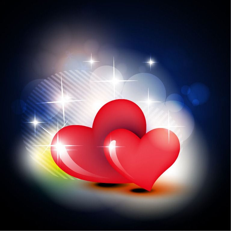 Beautiful Red Heart Vector Design Background   Hearts