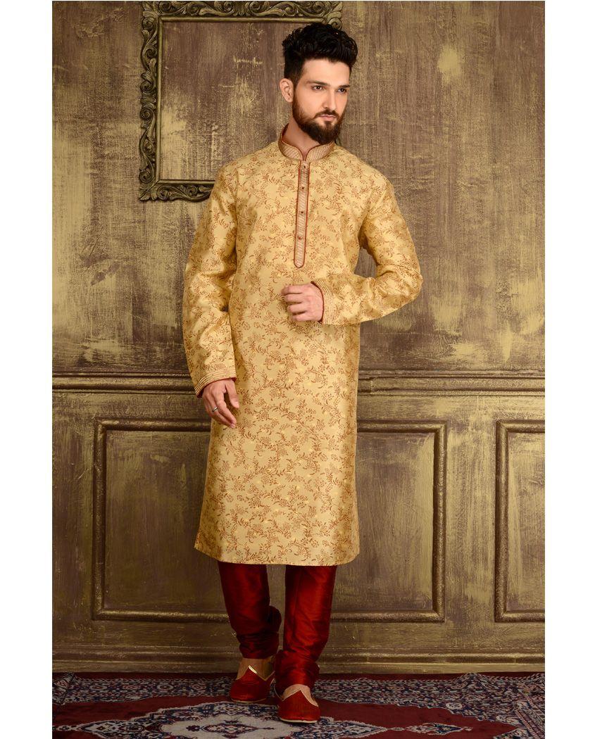 4fda59d8c2 Indian Ethnic Wear, Indian Groom Wear, Party Wear, Man Party, Silk Brocade