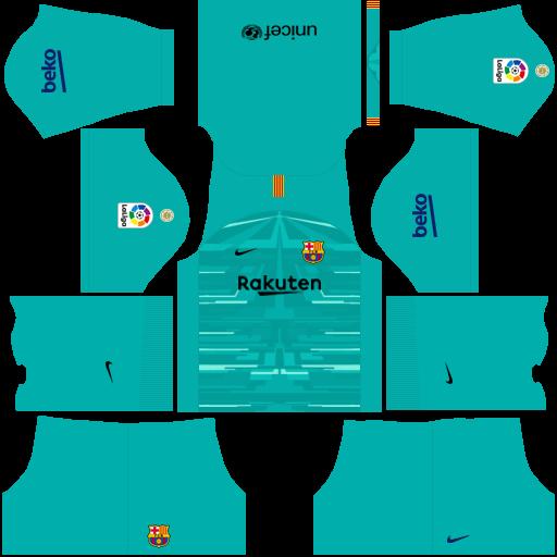 Update Kits Uniformes Barcelona Liga Santander 2019 2020 Fts 15 Dls Skyredpes Barcelona Football Kit Barcelona Barcelona Soccer