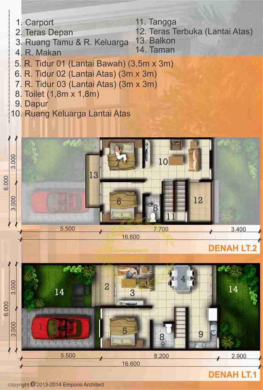 Jasa Desain Rumah Denah 2 Lantai 3 Kamar Lebar 6jpg 8371241