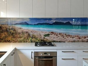 Printed 'images on glass' kitchen splashbacks and glass wall art by Lucy G