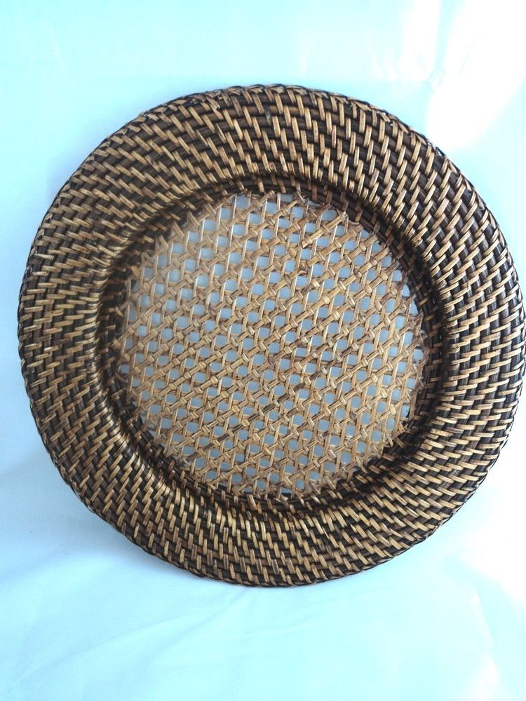 2(+) Natural Woven Rattan Wicker Round Chargers For Plates Paper Plate Holder & 2(+) Natural Woven Rattan Wicker Round Chargers For Plates Paper ...