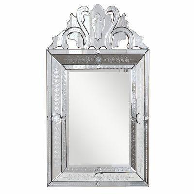 Elegant Lighting Venetian Arch Crowned Wall Mirror Mirror