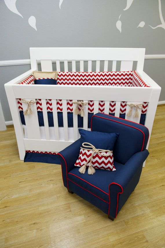 Crib Bedding Baby Boy Rooms: THE ALEXANDER: Nautical Crib Bedding
