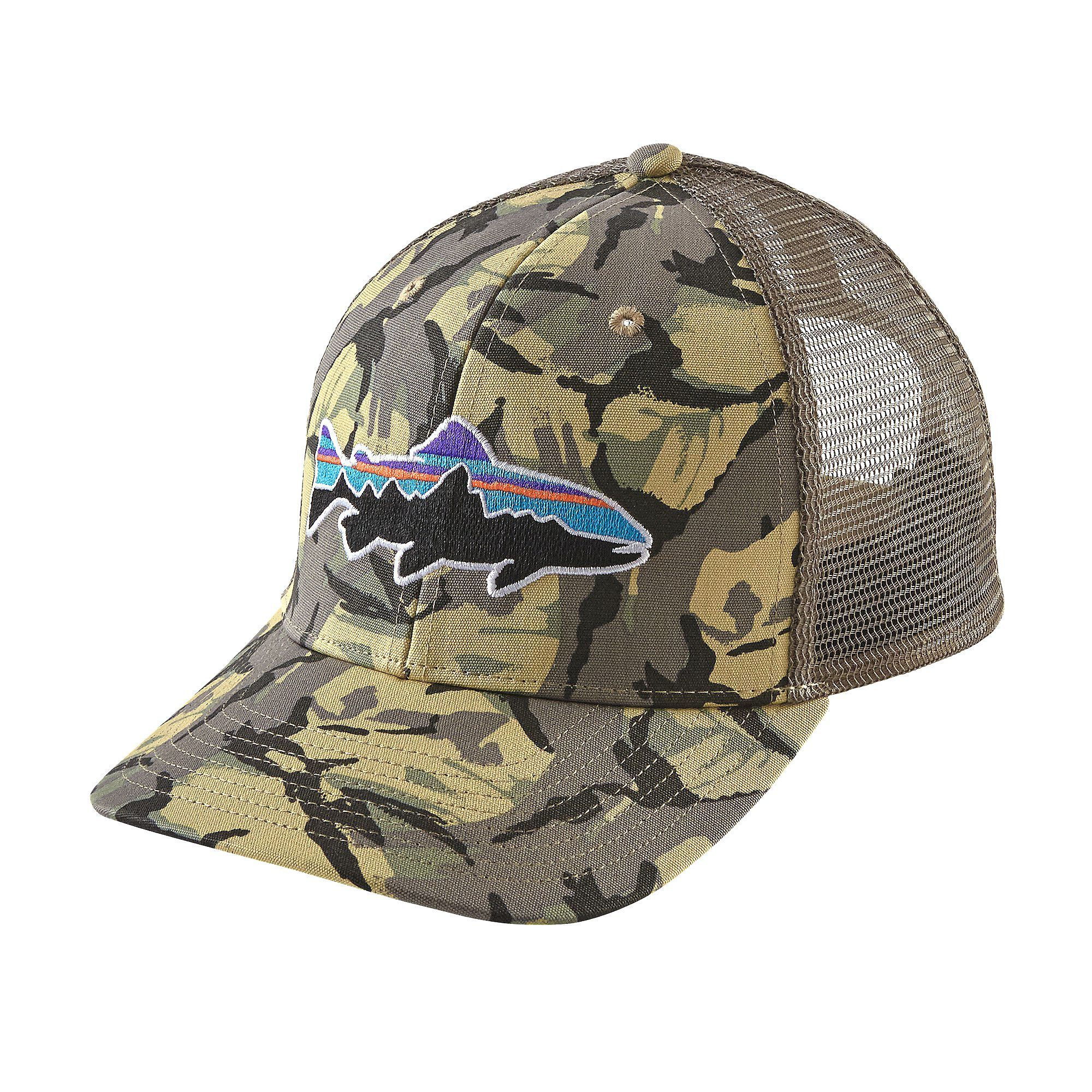 38e244ed3 Patagonia Fitz Roy Trout Trucker Hat | BoysMenGuys | Camo hats ...