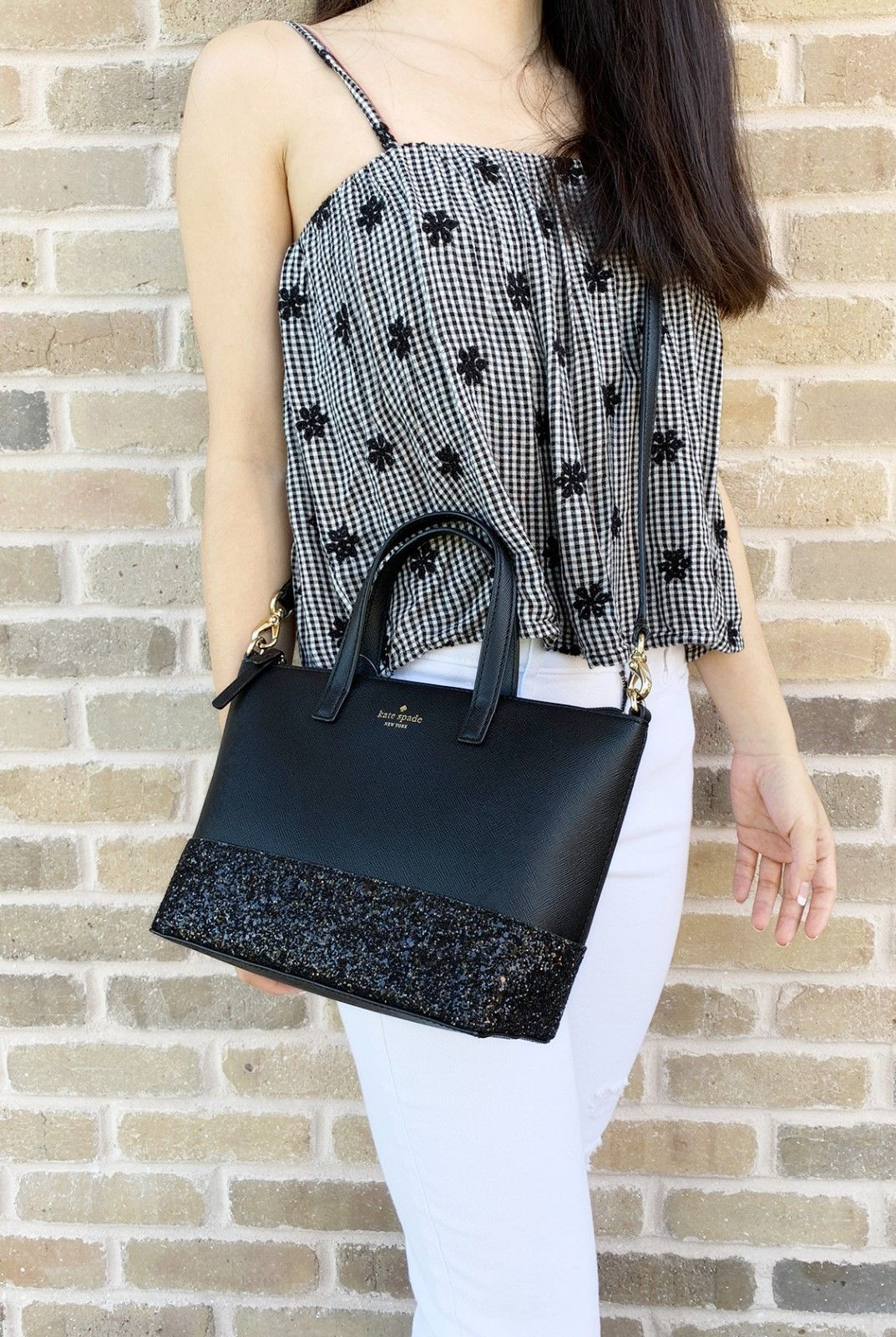 c5d7bcc705e Details about Kate Spade Greta Court Ina Glitter Small Top Zip ...