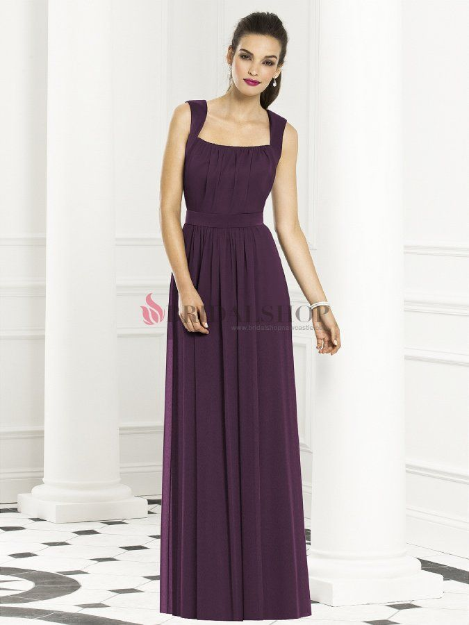 Elegant Chiffon Bridesmaid / Evening Dress with Pleats - $151.19 ...