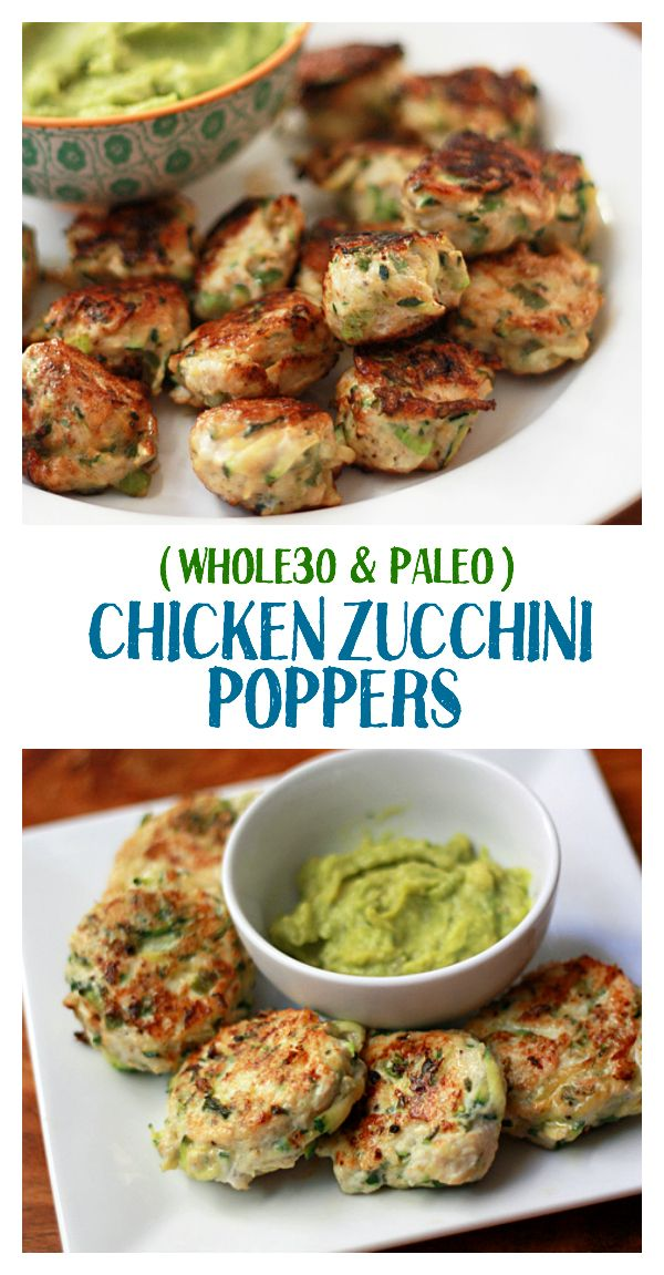 Photo of Paleo & Whole30 Chicken Zucchini Poppers – So good you'll want to make a double batch!