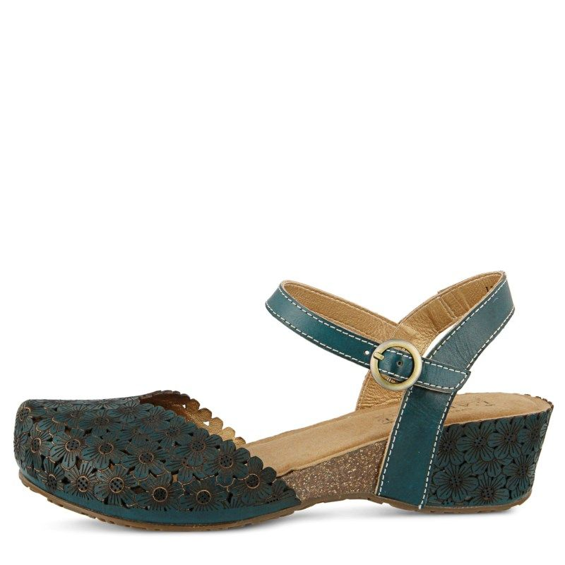 Womens Spring Step Livvy Mary Jane Teal Leather