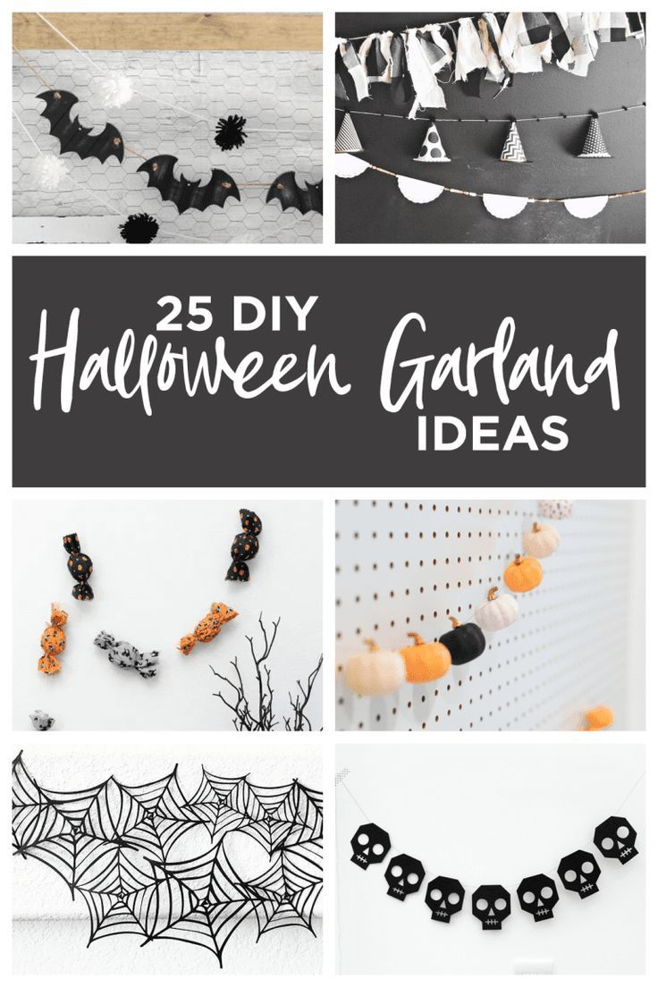 25 DIY Halloween Garland Ideas Spooky Skulls Pumpkins 25 DIY Halloween Garland Ideas  // .    //