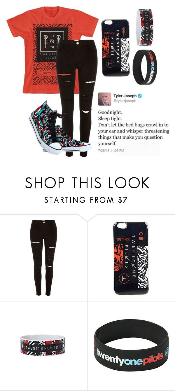 """Twenty Øne Piløts (Tag)"" by bands-are-my-savior ❤ liked on Polyvore featuring River Island"