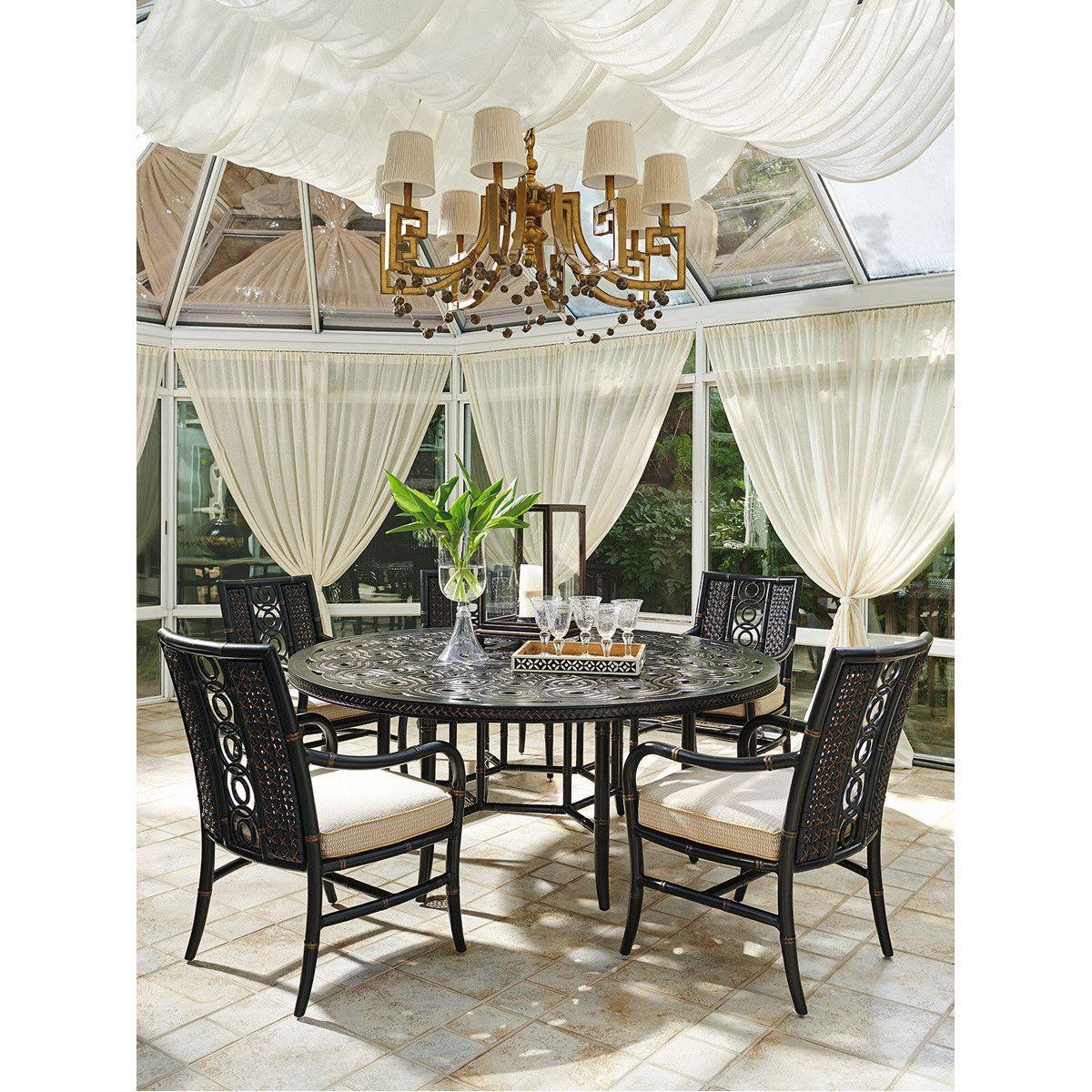 Tommy Bahama Misty Garden Round Dining Table Invernadero