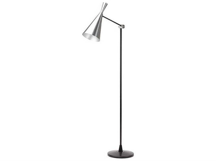 Cityscape Adjustable Floor Lamp In White And Black