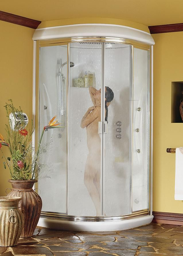 Stunning One Piece Shower Units with Seat and Doors: Extravagant ...