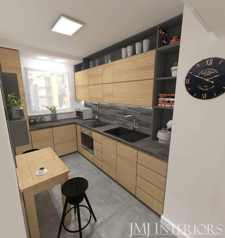 Beton I Drewno W Mieszkaniu W Bloku Z Wielkiej Plyty Na Gdanskiej Zaspie Kitchen Design Kitchen Interior House Design