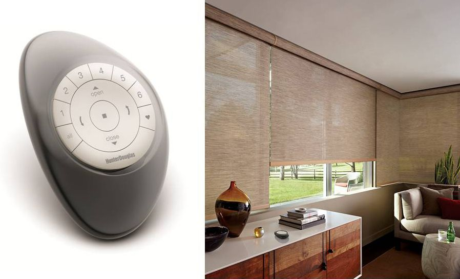 Stay In Tune With Your Environment By Creating Personalized Scenes Scheduling Automatic O Motorized Window Treatment Motorized Window Coverings Hunter Douglas