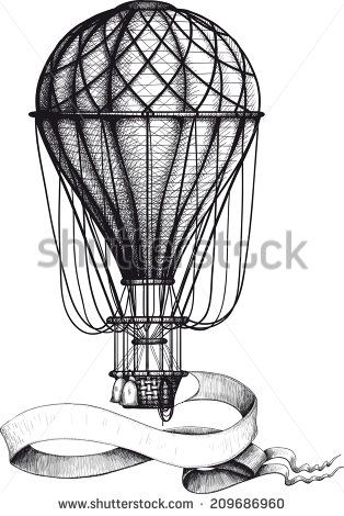 hot air balloon blueprints - Google Search POSTER - Wizard of Oz - copy blueprint paper free