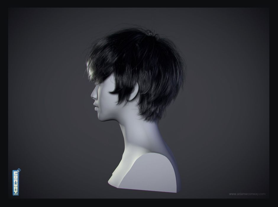 Hair Style 3d Image: CG Hair - Groom 2 By Adam Conway