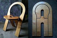 Cadeira dobrável.