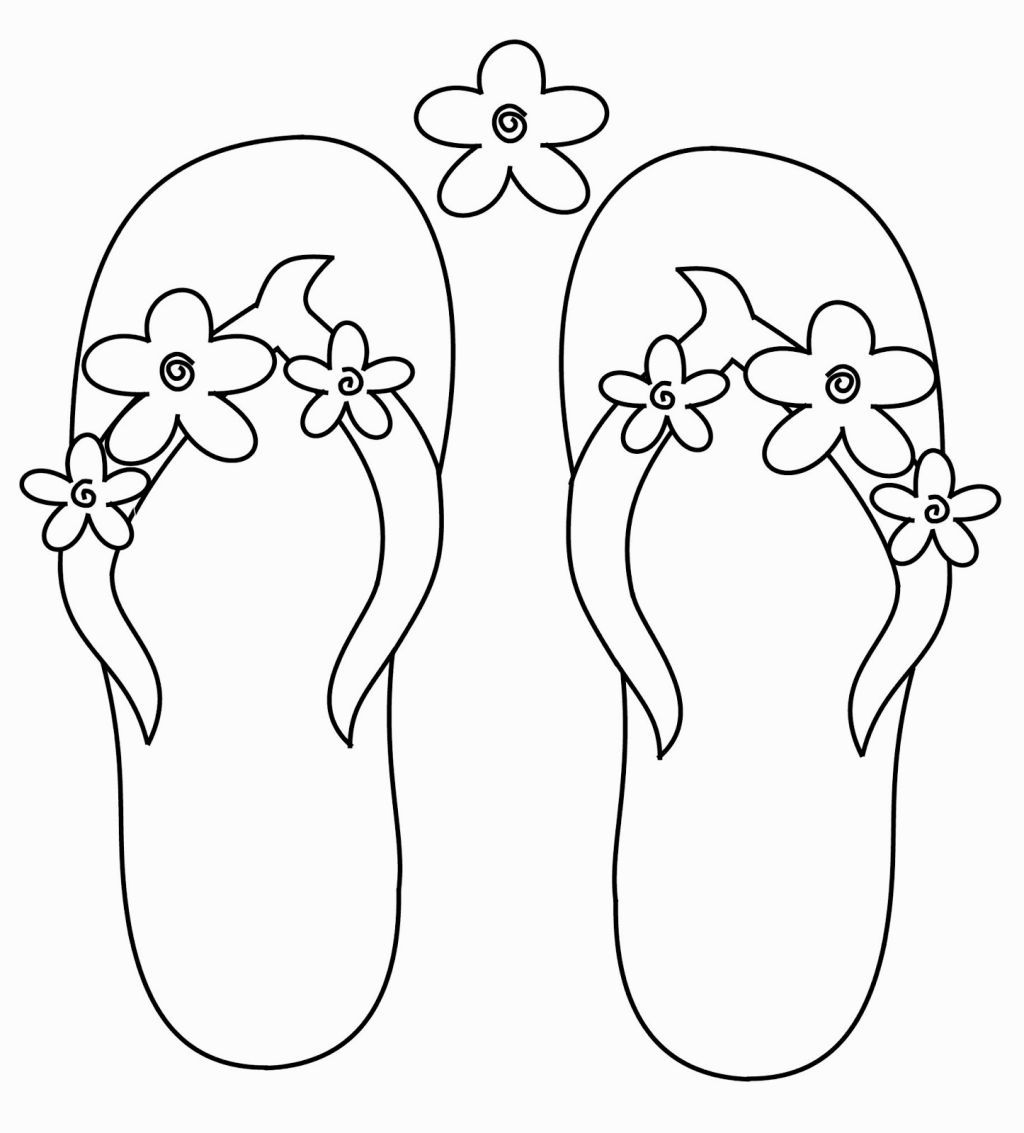 Flip Flop Coloring Page Summer Coloring Pages