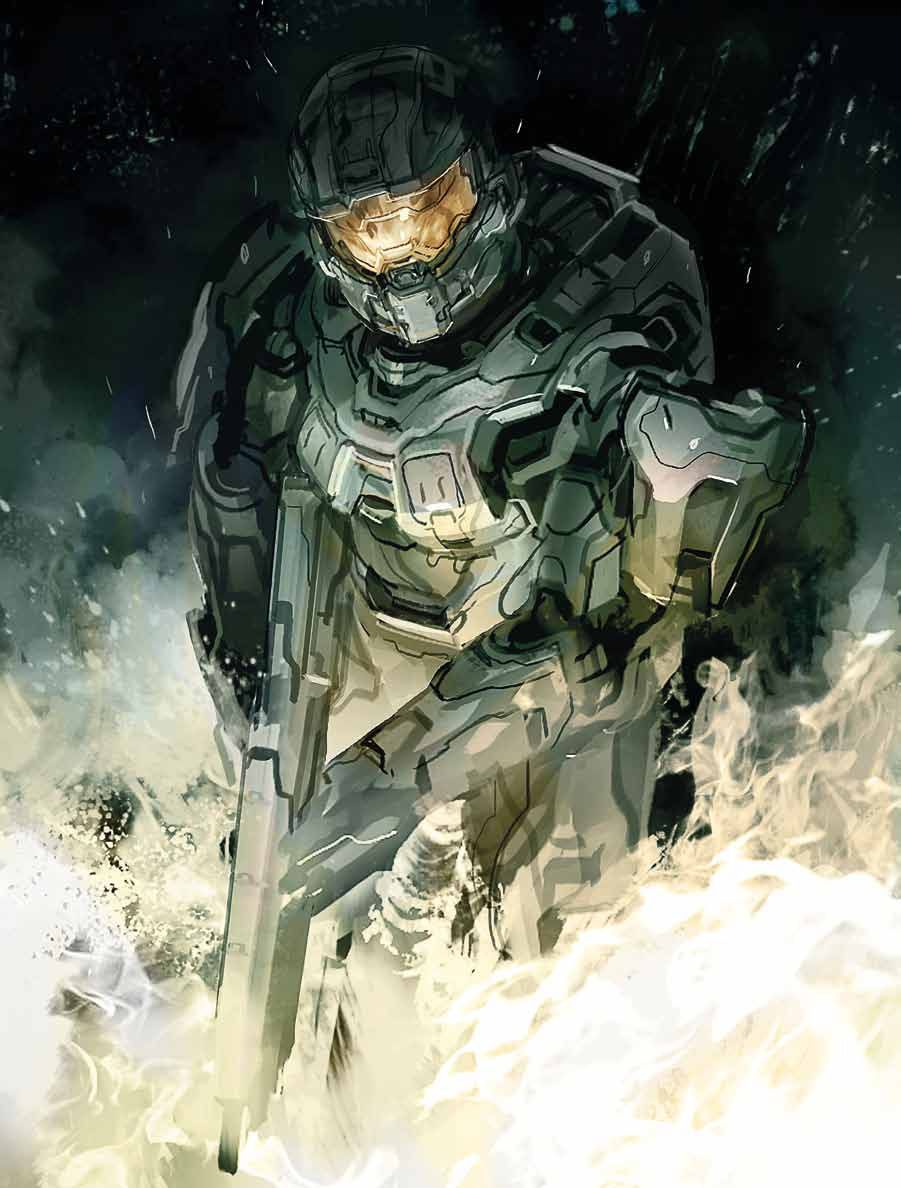 Master Chief's evolution the concept art of 'Halo 4