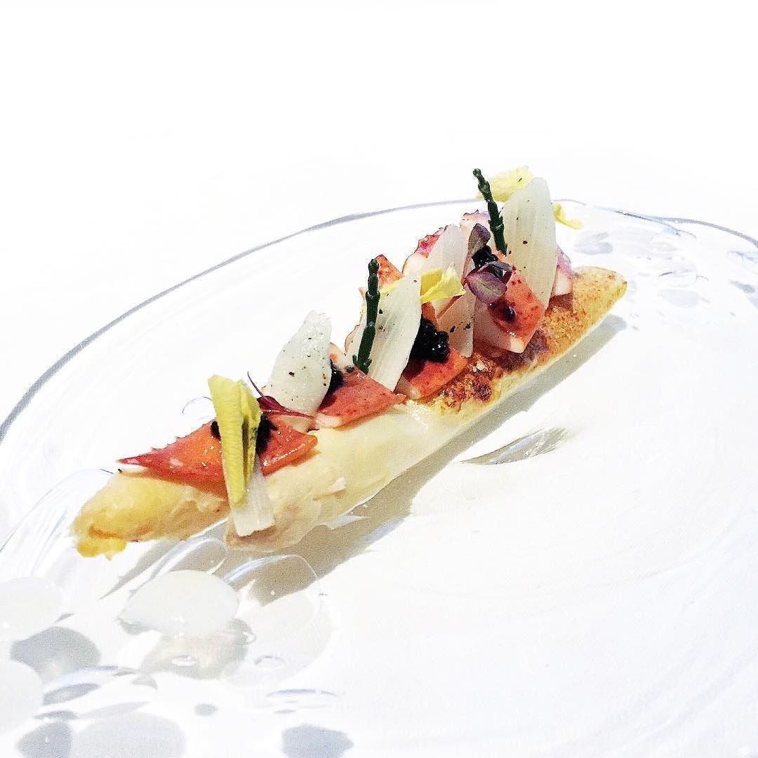 FIRST WAVE // white asparagus brûlée lobster confit white sturgeon ...