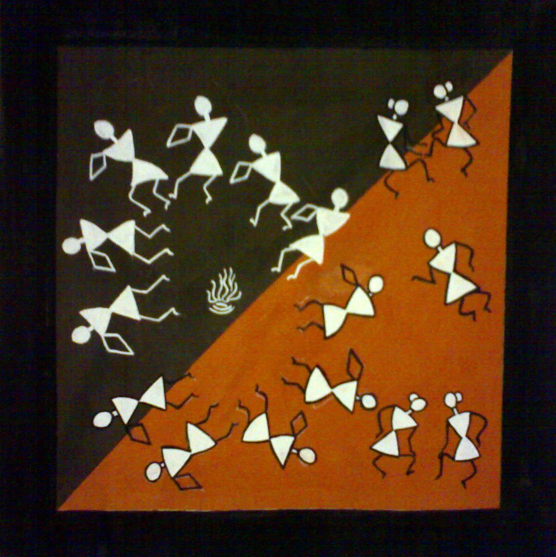Warli Painting Using Poster Colours Fanart Art Mural Painting