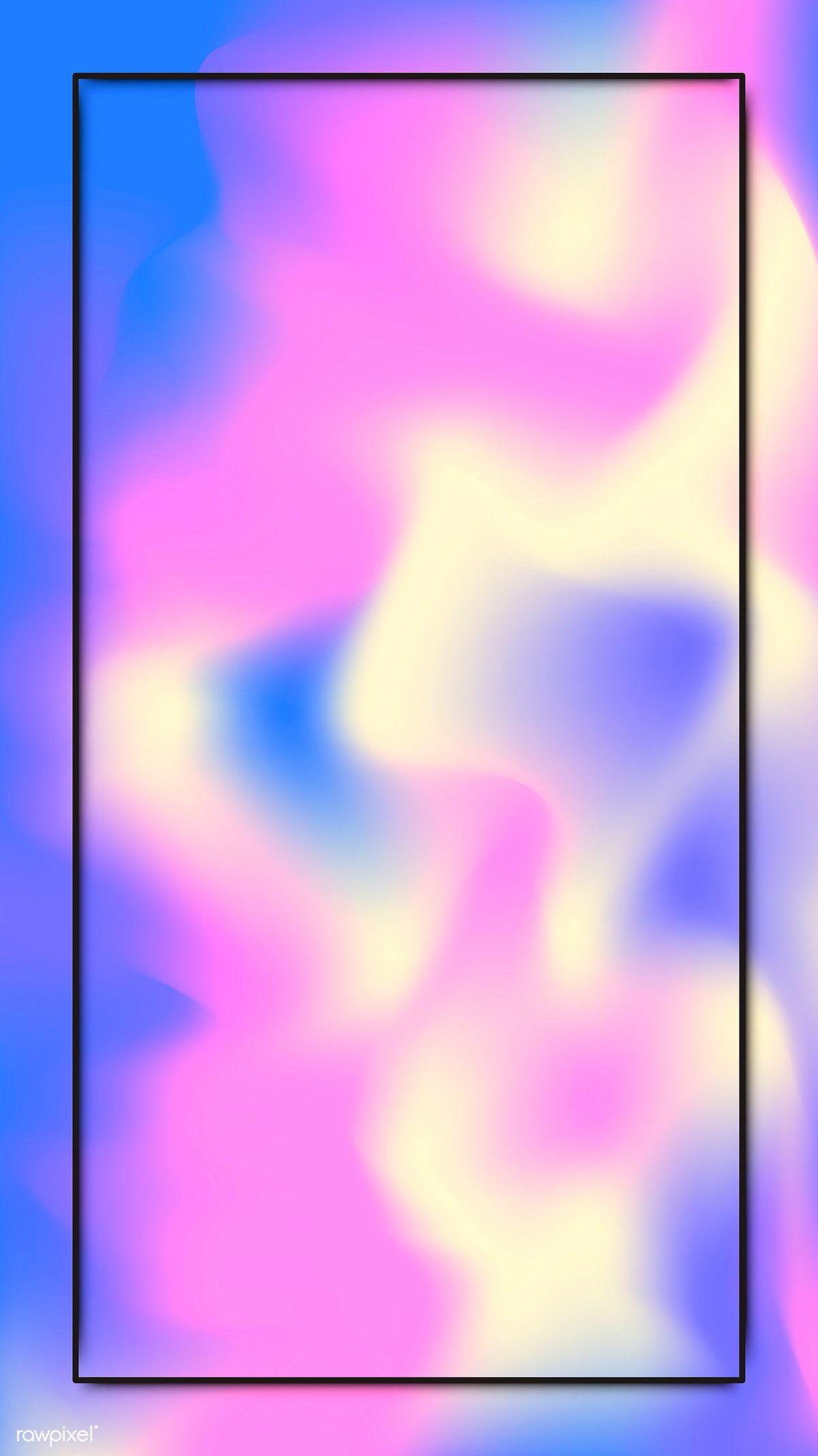 Download premium vector of Black frame on pastel