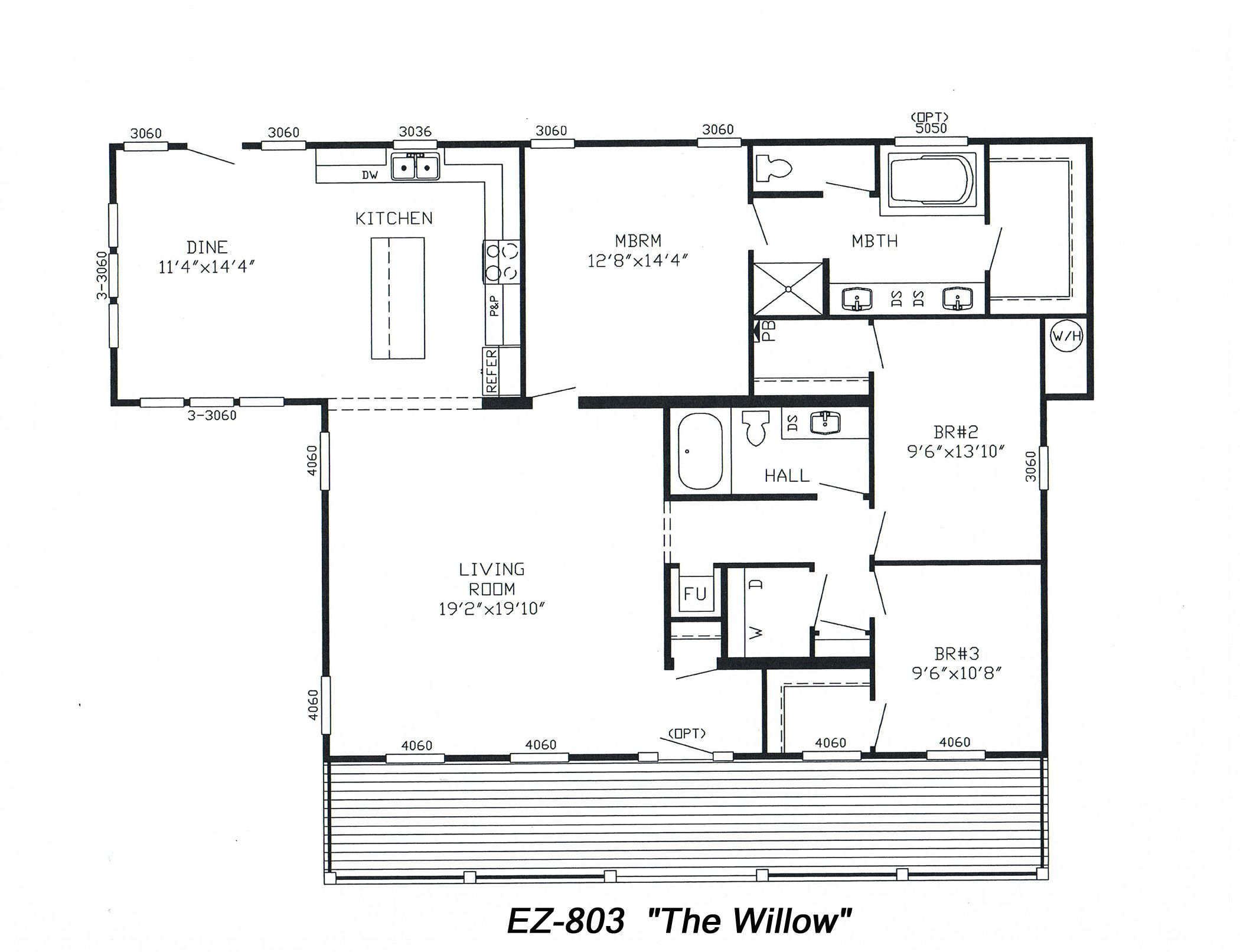 """McCants Mobiles Homes Model EZ803 'the willow"""" Pictures"""