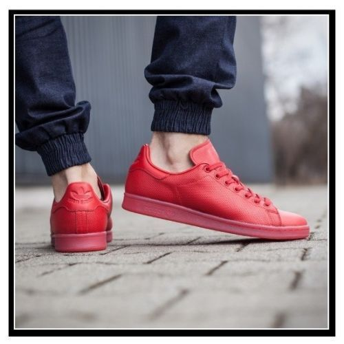 887dc23ab5a Adidas-Stan-Smith-ADICOLOR-TRIPLE-RED-Mens-Shoes-Pharrell-Scarlet -S80248-Leather