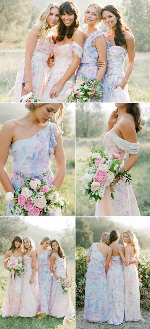 e11bd4a0372 Love Blooms! Romantic Floral Bridesmaid Dresses Your Girls Will Love