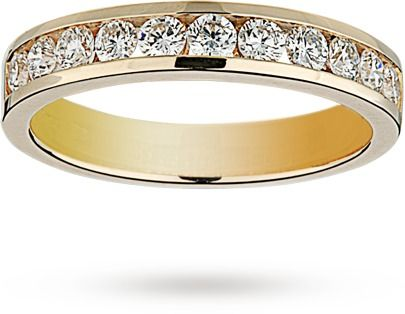 Brilliant cut 0.52 total carat weight diamond half eternity ring in 18  carat yellow gold