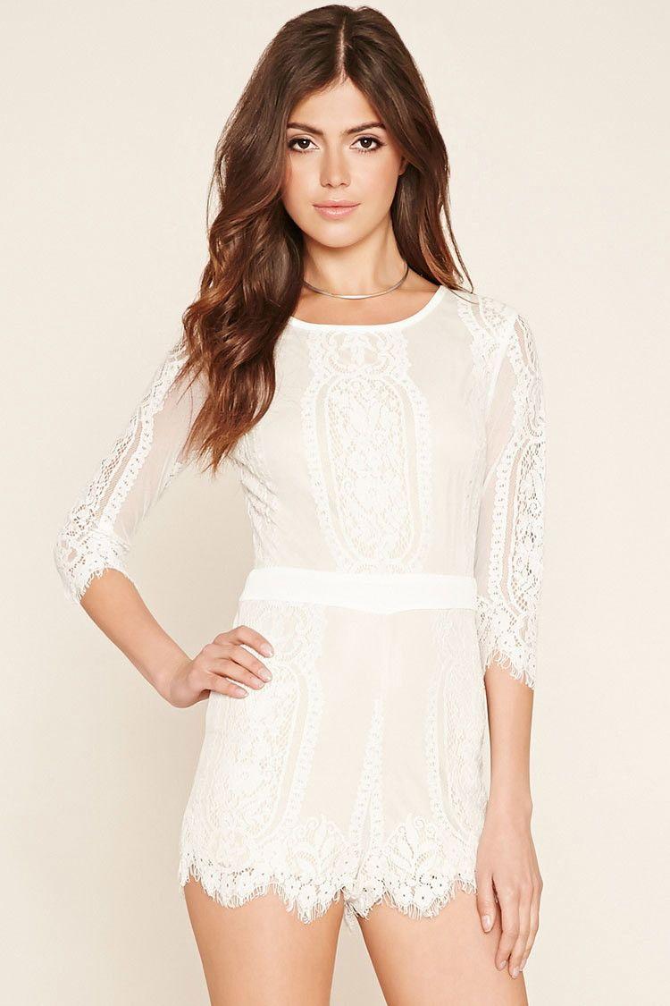 Eyelash Lace Romper Embroidered Lace Dress Lace Romper White Lace Romper [ 1125 x 750 Pixel ]