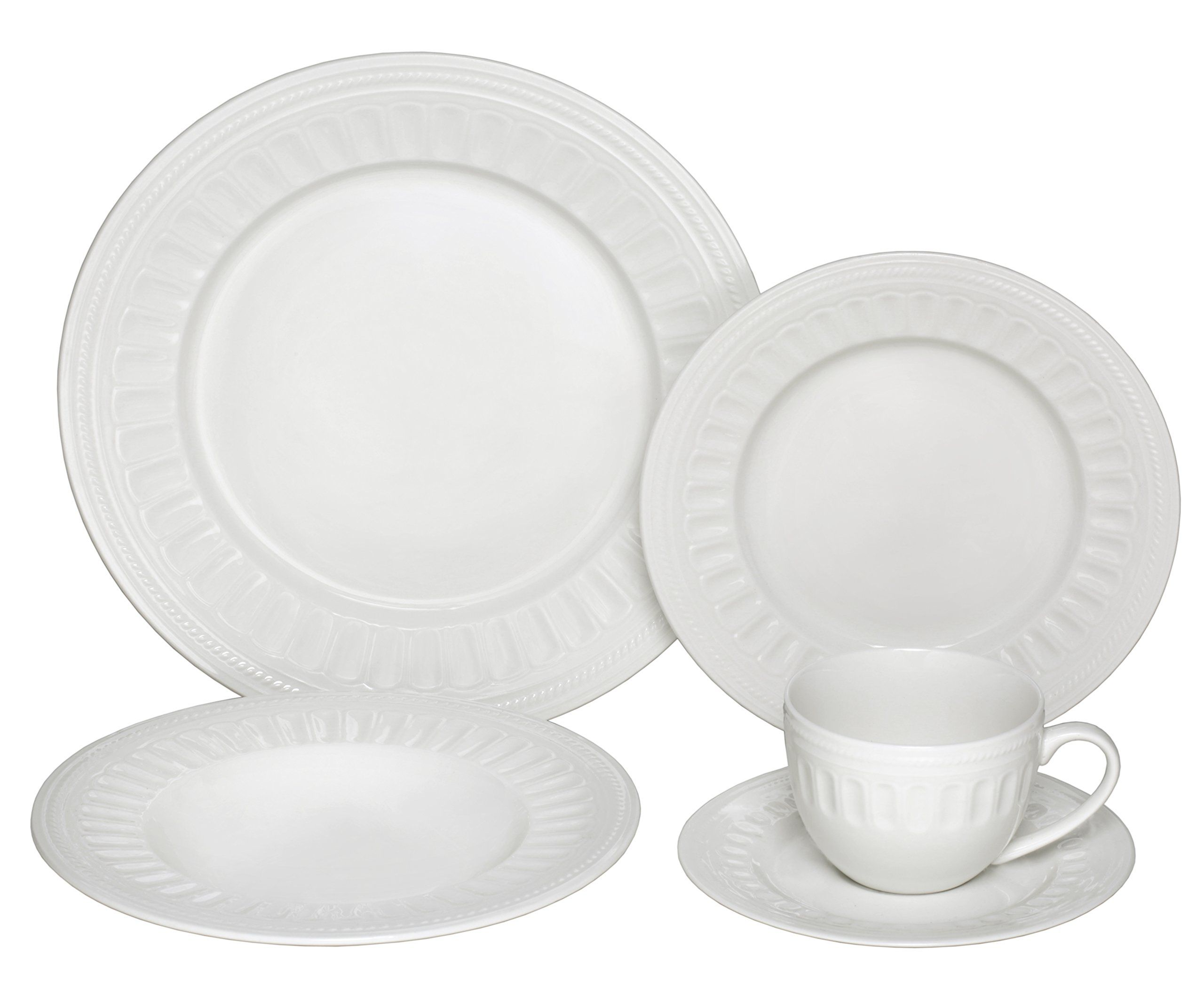 Melange 40-Piece Porcelain Dinnerware Set (English Lace) | Service for 8 |  sc 1 st  Pinterest & Melange 40-Piece Porcelain Dinnerware Set (English Lace) | Service ...