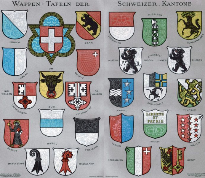 Books On Swiss History And Travel Swiss Cantons Swiss Flag Swiss