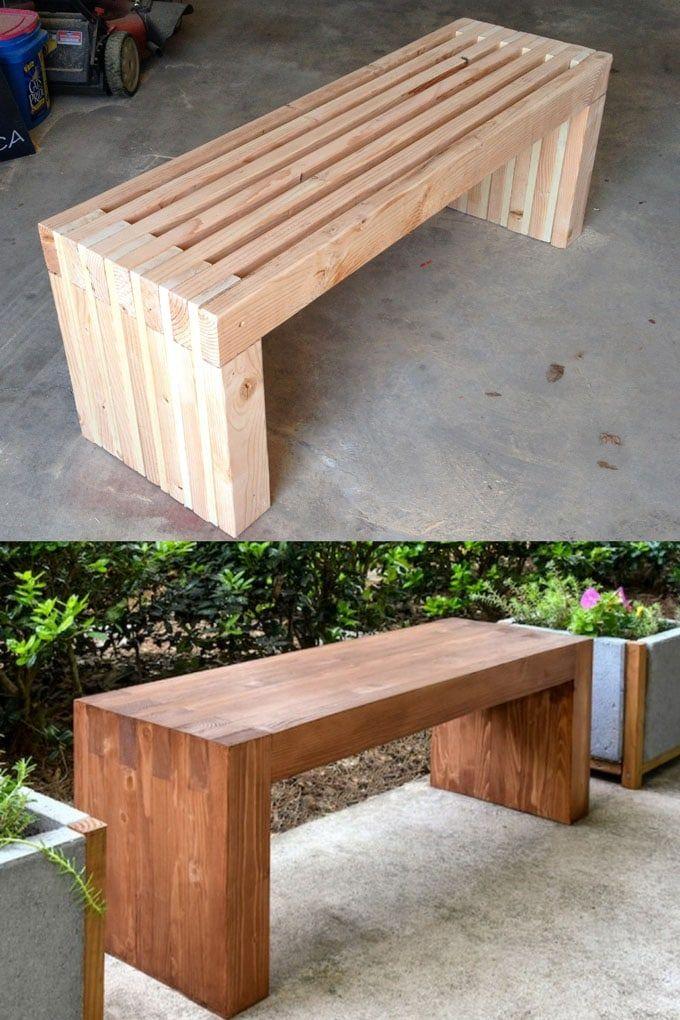 21 Gorgeous Easy Diy Benches Indoor Outdoor In 2020 640 x 480